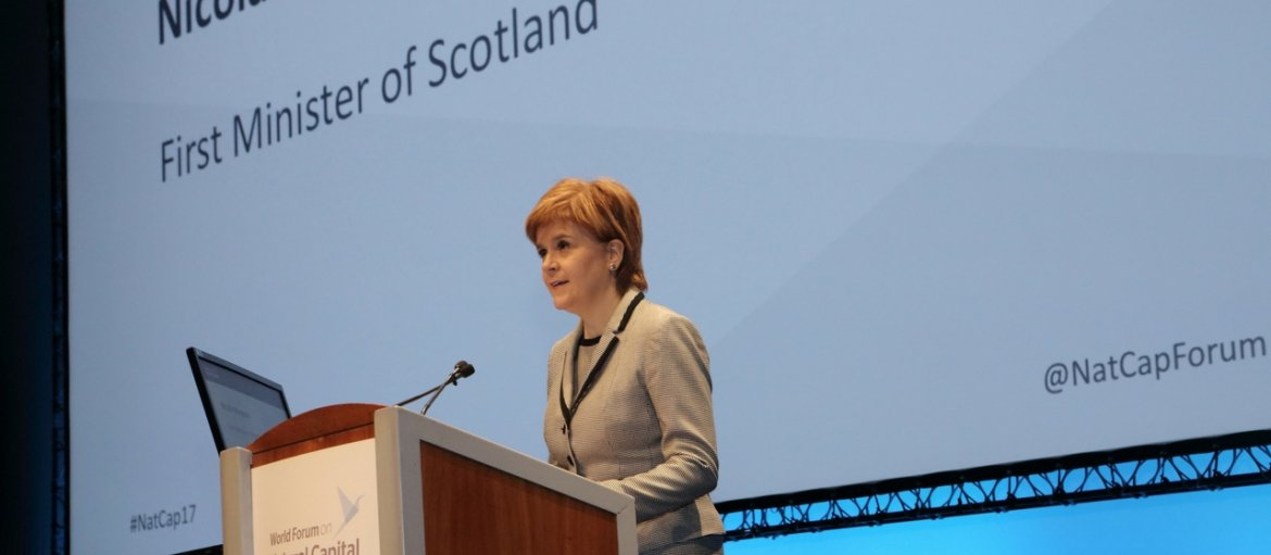 Nicola Sturgeon - World Forum on Natural Capital 2017 - Plenary - slider