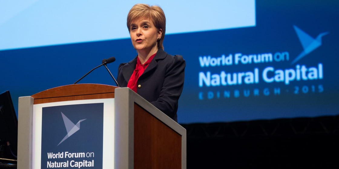First Minister Nicola Sturgeon MSP opens the World Forum on Natural Capital